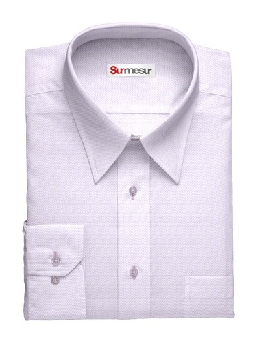 Dress shirt Sharkskin Grape