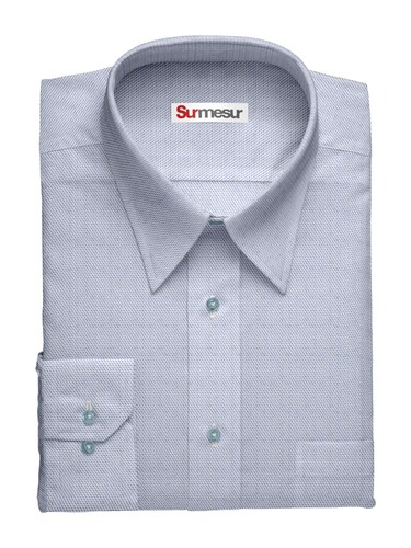 Dress shirt Sharkskin Weave - Blue