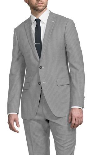 Suit Dove Grey Beaded Stripe