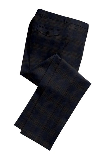 Trousers Blue Plaid