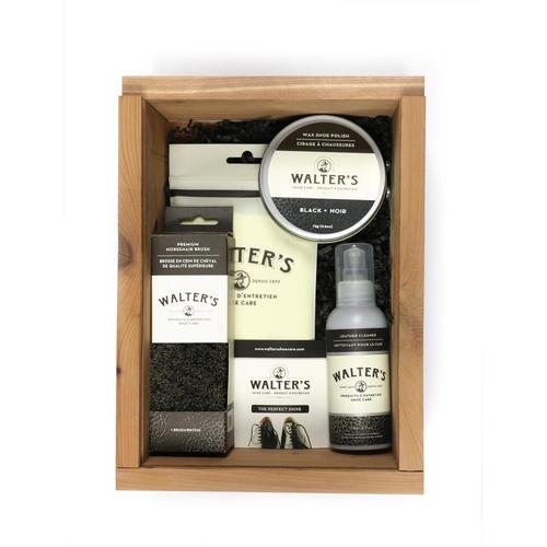 Shoe Care Cedar shoe care kit box