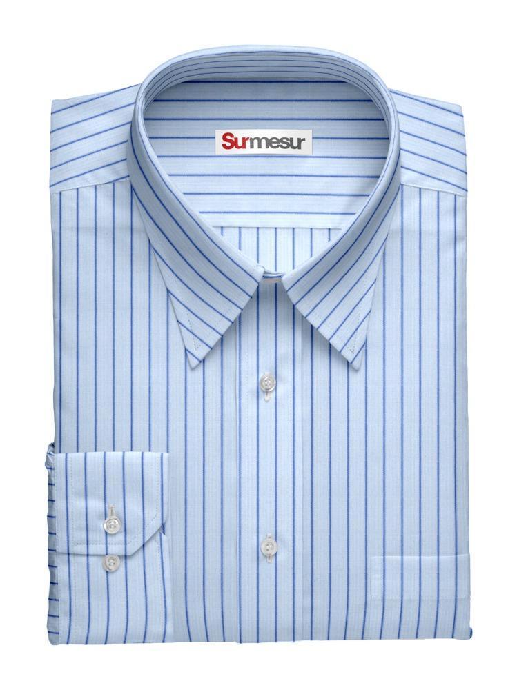 Dress shirt Blue Stripes Inspiro