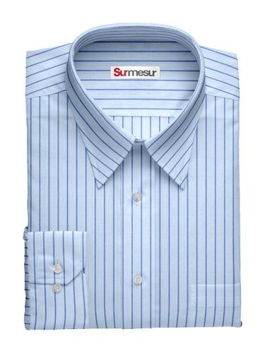 Dress shirt Blue Stripes Inspiro