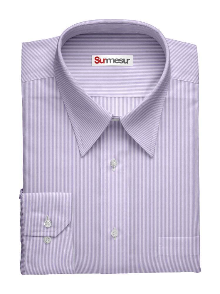 Dress shirt Purple Stripes Inspiro