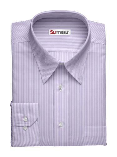 Chemise habillée Inspiro rayures mauves