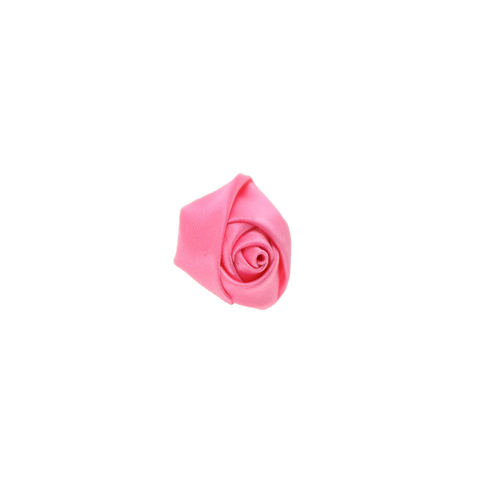 Ornement de col de veston Fleur Uni Rose - Design 3