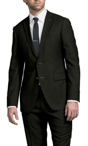 Complet Dark Green Pinstripe Suit