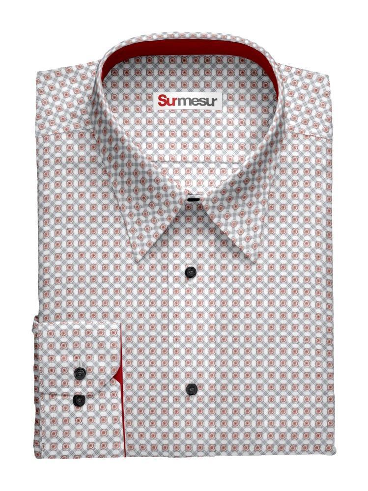 Sport shirt Red Tiles