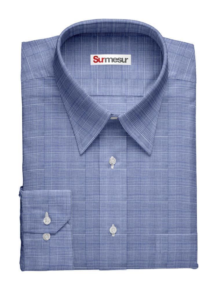 Chemise sport Prince de Galles bleu