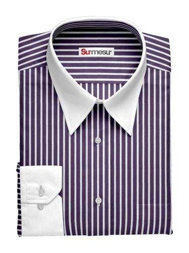 Dress shirt Purple Banker