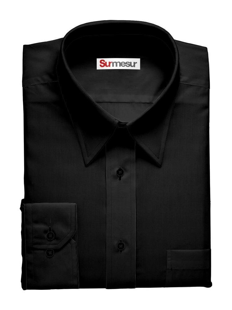 Chemise habillée Bambou noir
