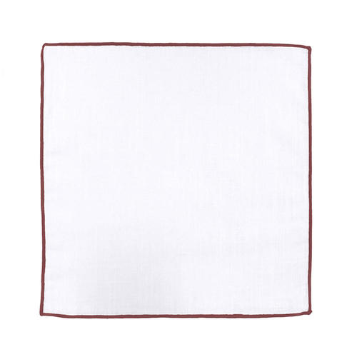Pocket square Pocket Square - Borderline Burgundy