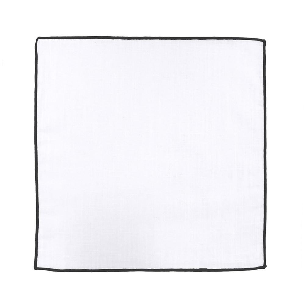 Large mouchoir blanc noir 081fc2683b