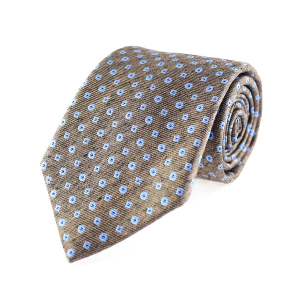 Tie - Regular Tie - Blue Polka Dots