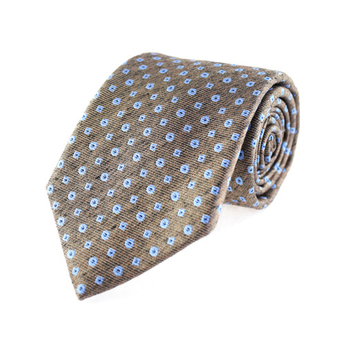 Tie - Regular Tie - Blue Polka Dots