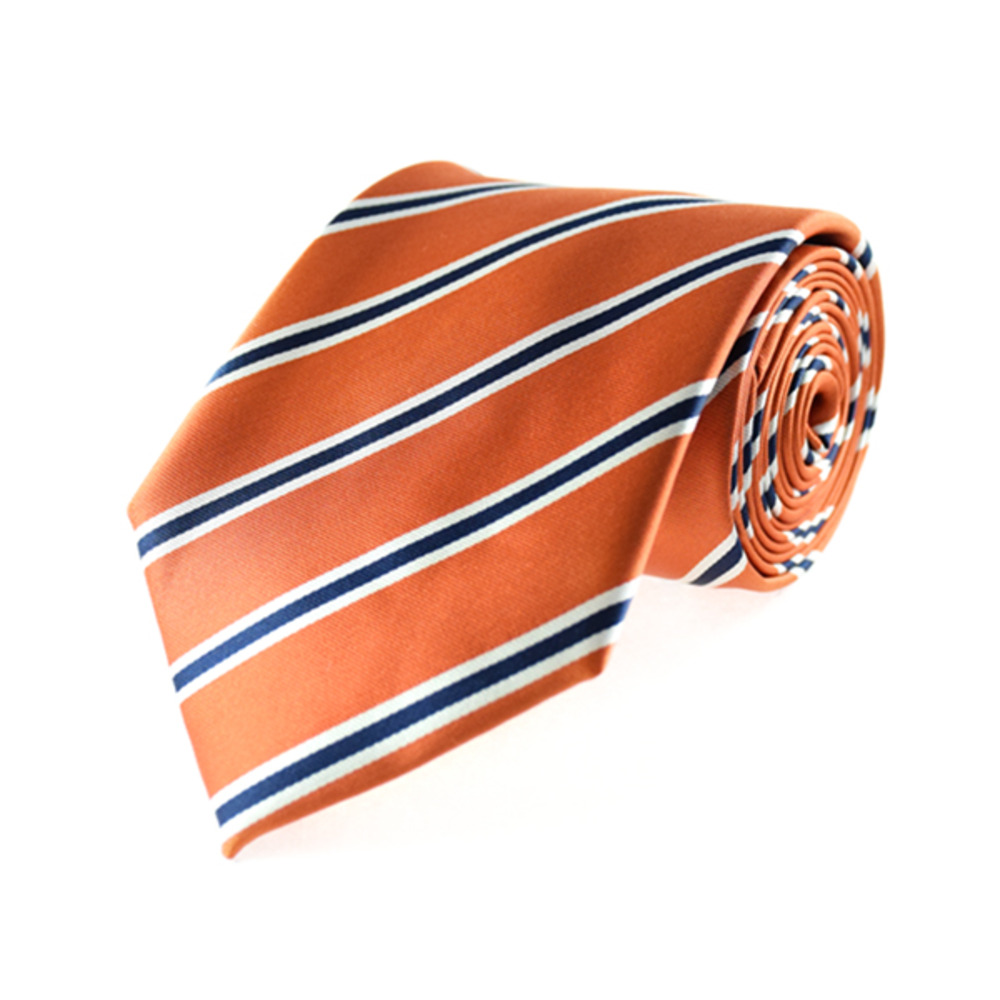 Tie - Regular Tie - Orange Wave