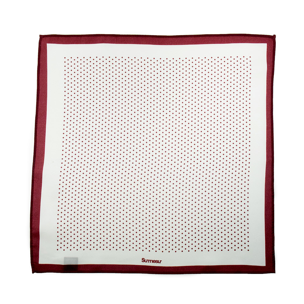 Pocket square Pocket Square High End White/Red Polka Dot