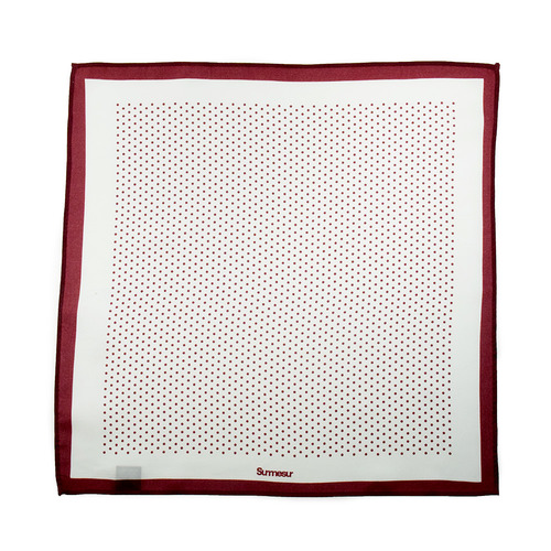 Mouchoirs de poche Mouchoir de Poche High End Blanc/Rouge Polka Dot