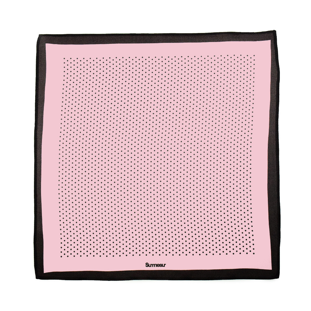 Mouchoirs de poche Mouchoir de Poche High End Rose/Brun Polka Dot