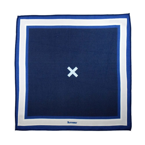 Pocket square Pocket Square High End Navy/White