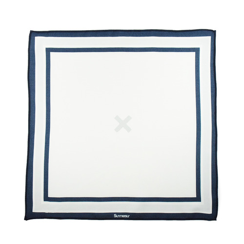 Pocket square Pocket Square High End White/Navy