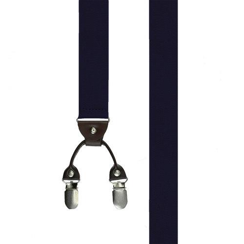 Suspenders Clip Suspenders - Solid Navy