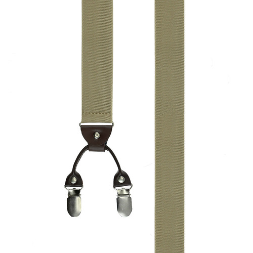 Suspenders Clip Suspenders - Solid Beige