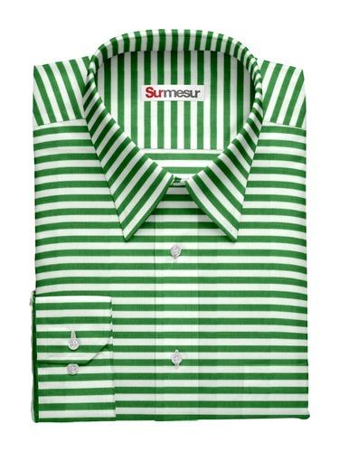 Chemise sport Green Stripe