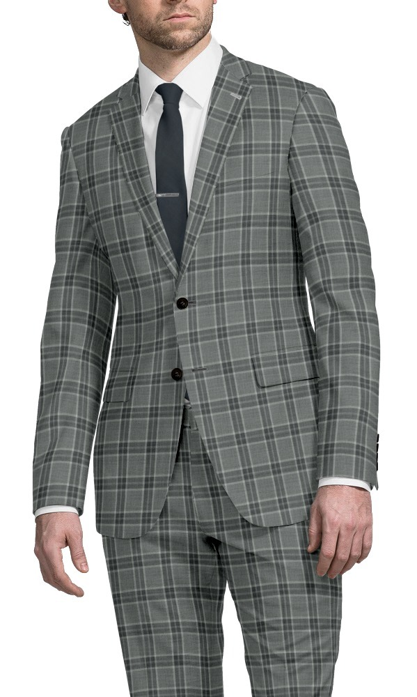 Suit black and grey