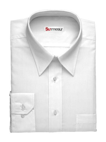 Dress shirt White Herringbone