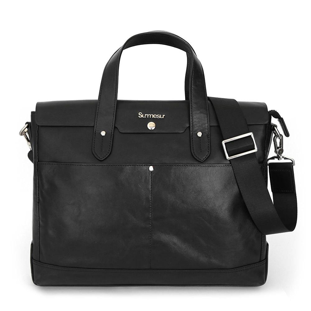 SALE - Leather bag The Portfolio - Black