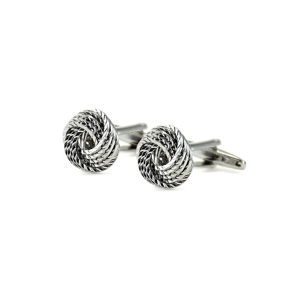 Cufflinks Cufflinks - Silver Swirl