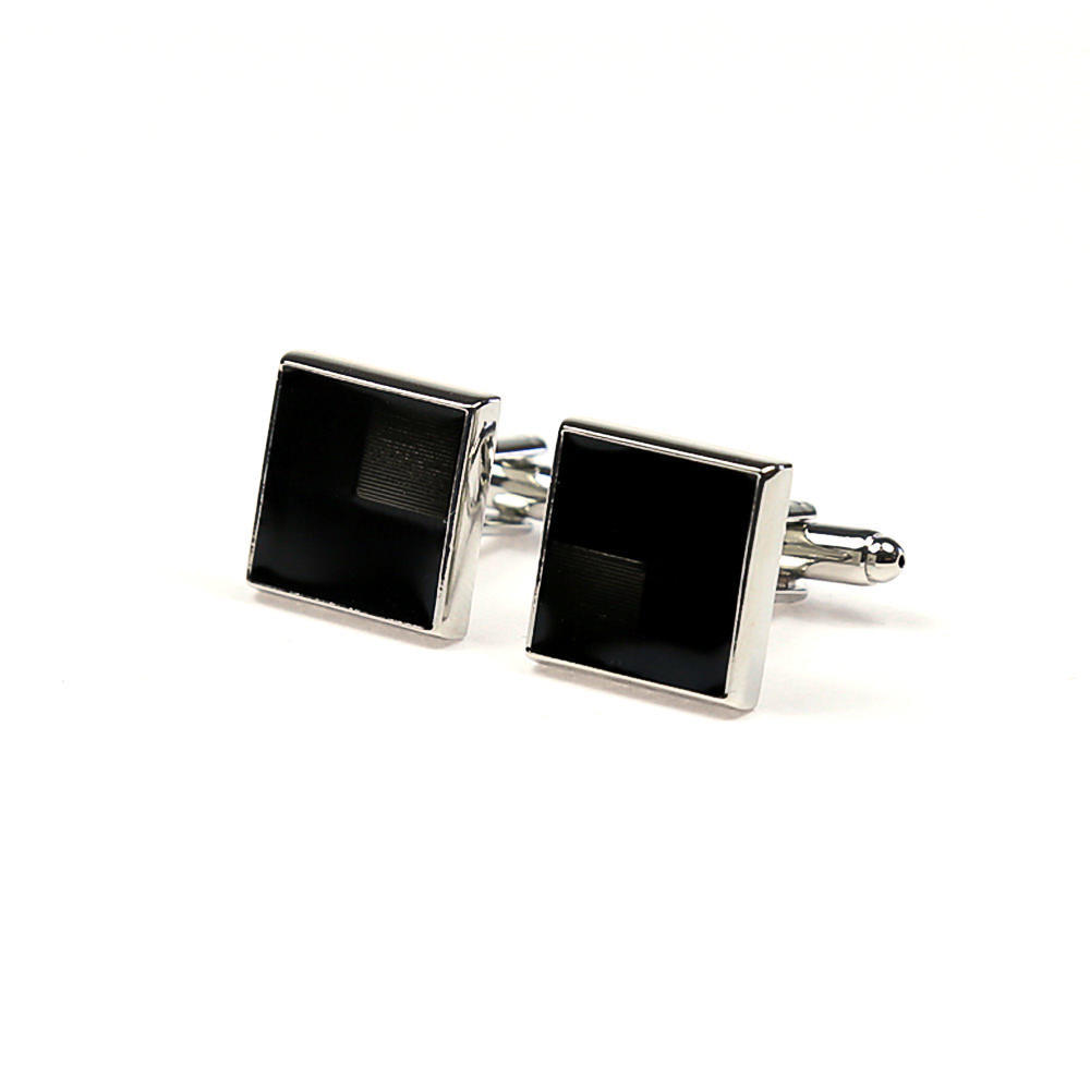 Large square cufflinks black stone french cuff shirt boutons manchette carres pierre noir chemise manchettes franc aises cf30pnbkns183 103 f53e80b8d0