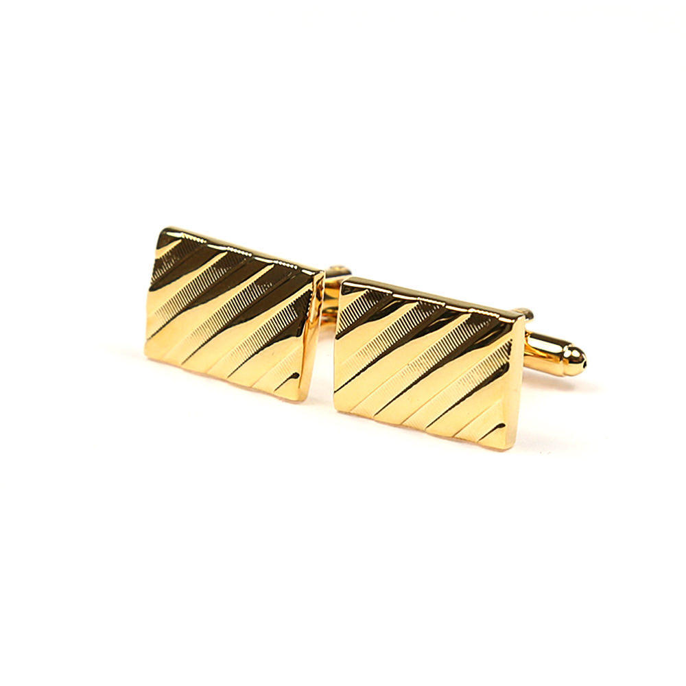 Large rectangular gold striped cufflinks french cuff shirt boutons manchette dores rayures diagonales chemise manchettes franc aises cf30pnglns183 108 6b7655f181