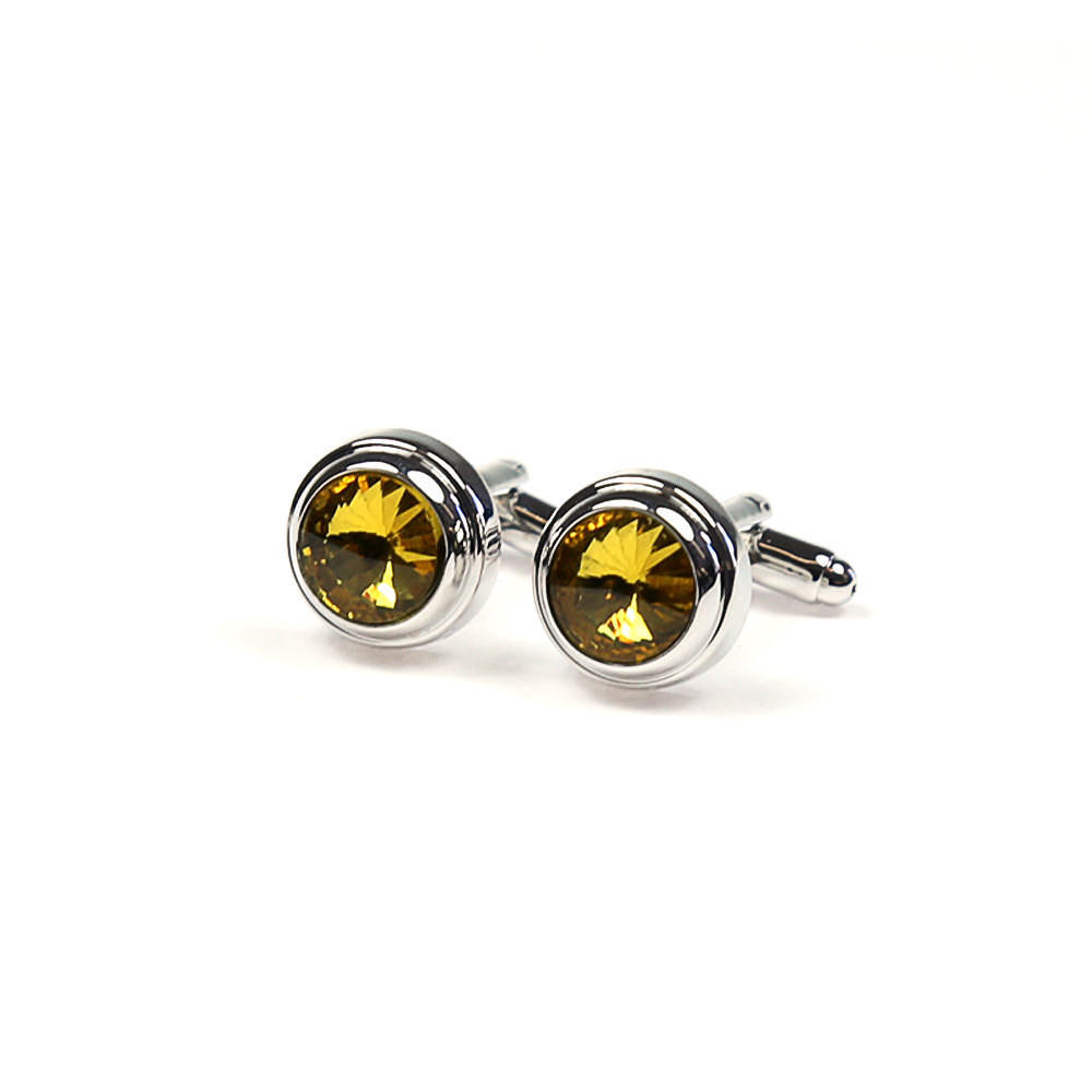 Large round cufflinks yellow stone french cuff shirt boutons manchette ronds pierre jaune chemise manchettes franc aises cf30pnywns183 111 26df49b825