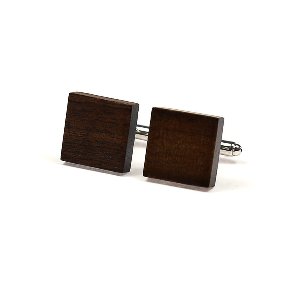 Large square wooden cufflinks french cuff shirt boutons manchette bois chemise manchettes franc aises cf30pnbrns183 117 6fd770b1bf