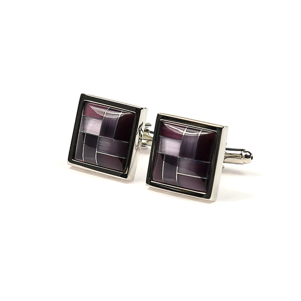 Large square cufflinks curved shape french cuff shirt boutons manchette carre s forme bombe e chemise manchettes franc aises cf30pdbrns183 118 fef9396db6