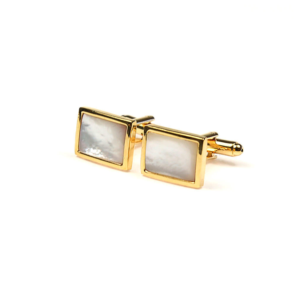 Large gold rectangular cufflinks white stone french cuff shirt boutons manchette dore s pierre blanche chemise manchettes franc aises cf30pnncns183 119 9ca844e9d7