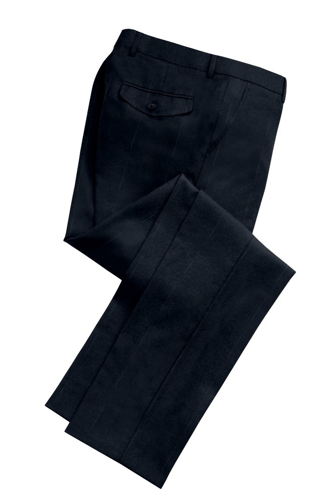 Trousers blue plain