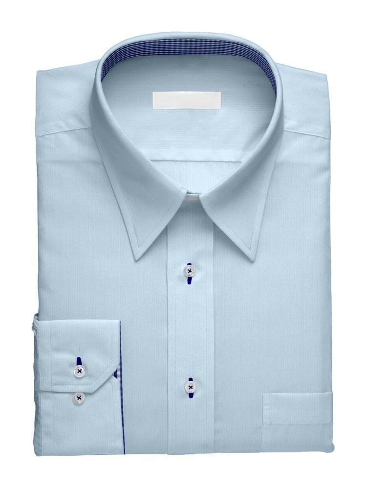 Dress shirt Blue Charlotte with contrast
