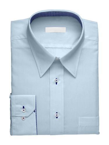 Chemise habillée Charlotte bleu avec contraste