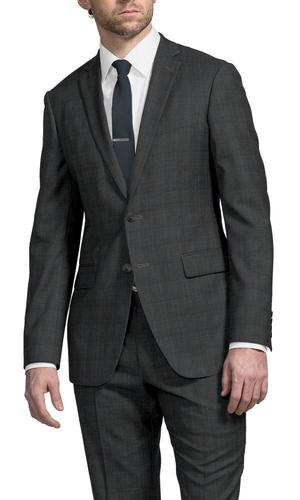 Suit Grey Glen w/ Sky Blue Overcheck
