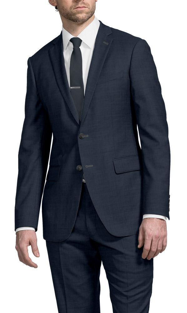 Suit Steel Blue Sharkskin