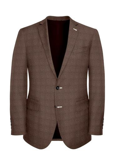 Jacket Heavy Light Brown Donegal