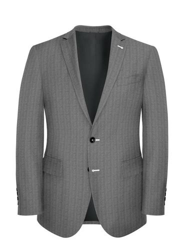 Jacket Grey Flannel Herringbone