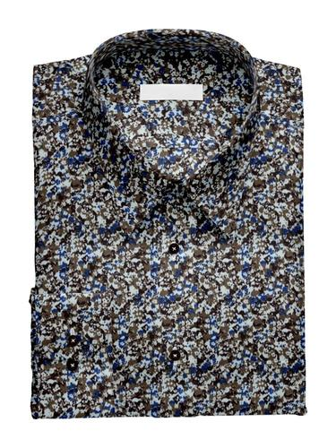 Dress shirt Brown/Blue Print