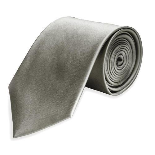 Cravate régulière Gris Argenté