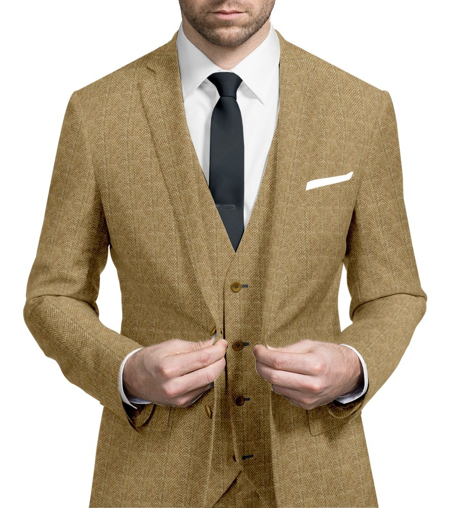Three-piece suit tweed
