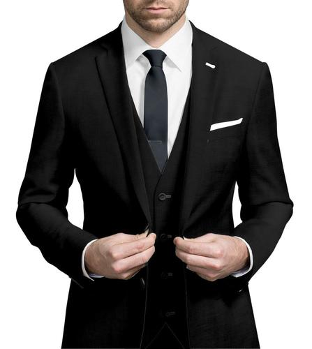Three-piece suit Plain Black