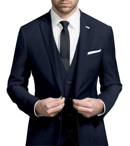 Three-piece suit Plain Navy